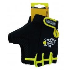 Велоперчатки Ventura with GEL padding yellow VENTURA black