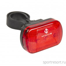 "Фара задняя M-WAVE ""ATLAS LR"" M-Wave flashlight, red, 3 LED's, 3 functions"