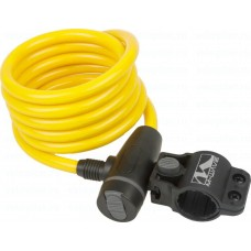 Замок M-Wave autom.-spiralcablelock 1800 x 10 mm,yellow