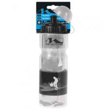 Фляга thermo bottle, M-WAVE, plastic, transparent/black, 400 ml capacity