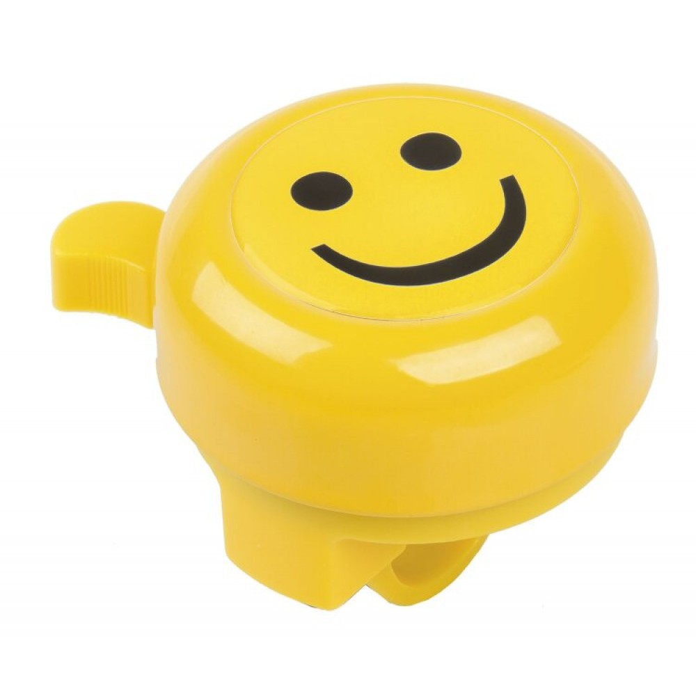 """Звонок M-Wave """"SMILEY"""" plastic lower part with 2 screws, yellow with 3-D-sticker"""
