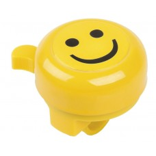 "Звонок M-Wave ""SMILEY"" plastic lower part with 2 screws, yellow with 3-D-sticker"