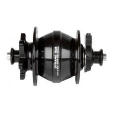 Втулка задняя Messingschlager hub dynamo,alloy,black,OLD 100mm,32holes,6V/3W,w/QR,for discbrake