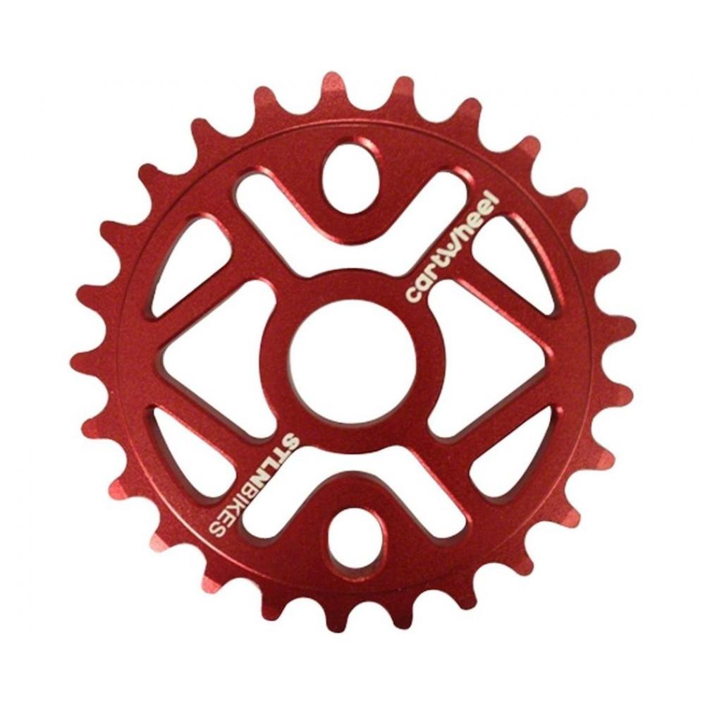 Звездочки на шатуны Stolen RED 25T,25t. Red, 5mm CNC 6061
