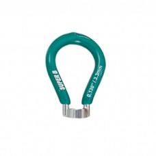 Super B  спицной ключ 3.3 mm -green (European)
