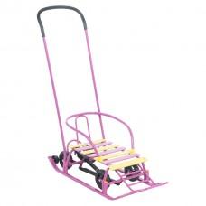 """Санки """"Мишутка 1"""" Универсал, колеса, 30 мм, фиолетовые"""